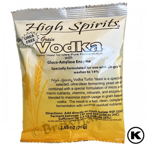 High Spirits Grain Vodka Turbo Yeast with Gluco-Amylase Enzyme